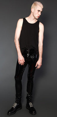 LIPSERVICE - 4 WAY STRETCH VINYL 5 POCKET PANTS - FETISH