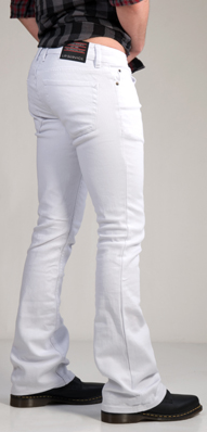 LIPSERVICE - ROCKER JEANS IN WHITE - FETISH