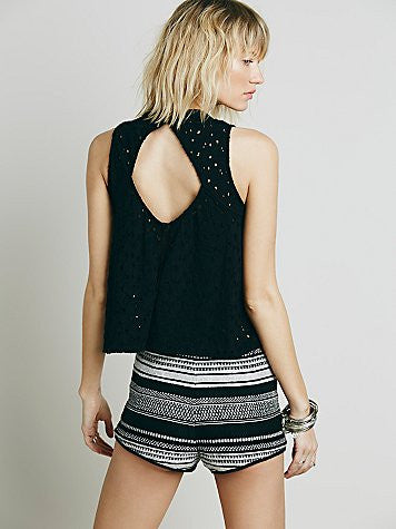 FREE PEOPLE - SCHIFFILI MALI CROP TANK IN 2 COLORS - FETISH