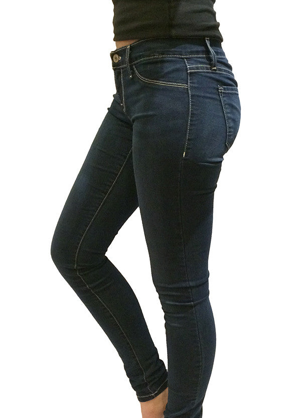 FLYING MONKEY - MEDIUM BLUE WASH 5 POCKET DENIM JEGGING - FETISH