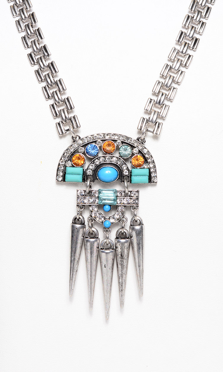 FETISH - METAL CONE FRINGE ORNATE NECKLACE - FETISH