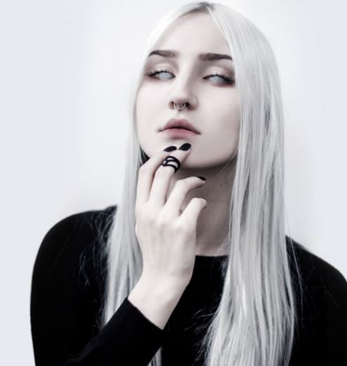 THE ROGUE + THE WOLF - MIDI RING OF AFFECTION IN BLACK - FETISH