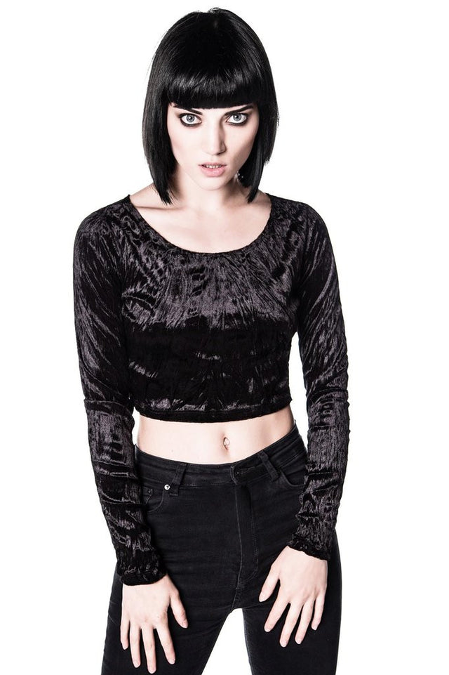 MIDNIGHT VELVET CROP TOP