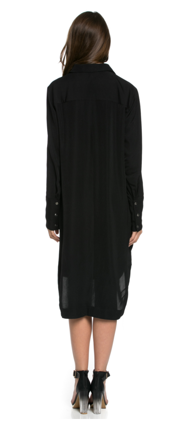 TOV - ROGUES TUNIC DRESS IN BLACK - FETISH