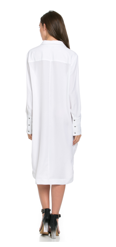 TOV - ROGUES TUNIC DRESS IN WHITE - FETISH