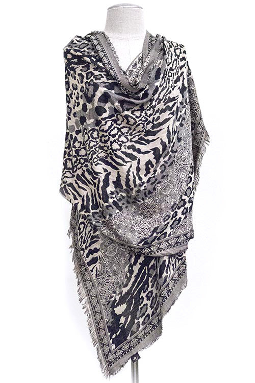 FETISH - ANIMAL PRINT OVERSIZED SCARF - FETISH