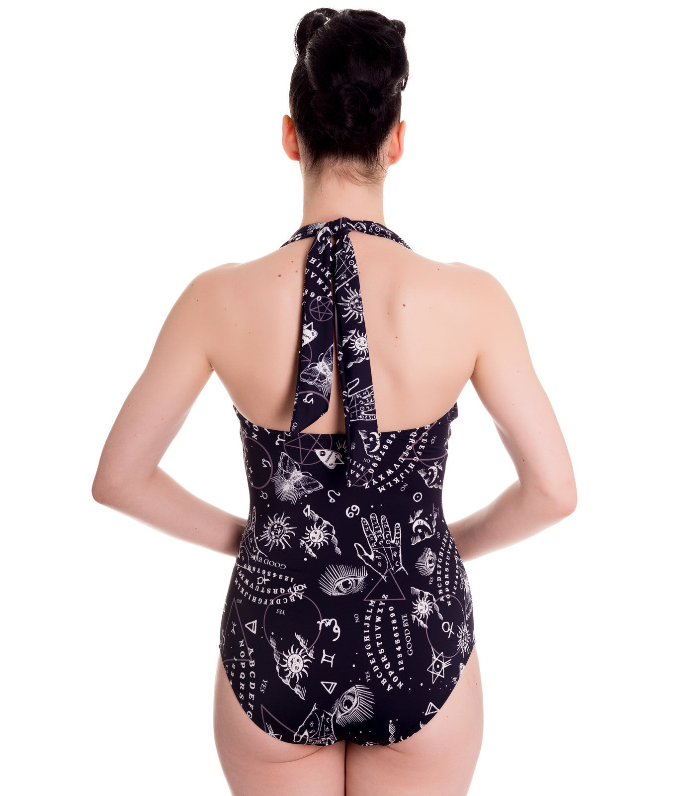 Spin Doctor - OUIJA PRINT HALTER STYLE SWIMSUIT - FETISH