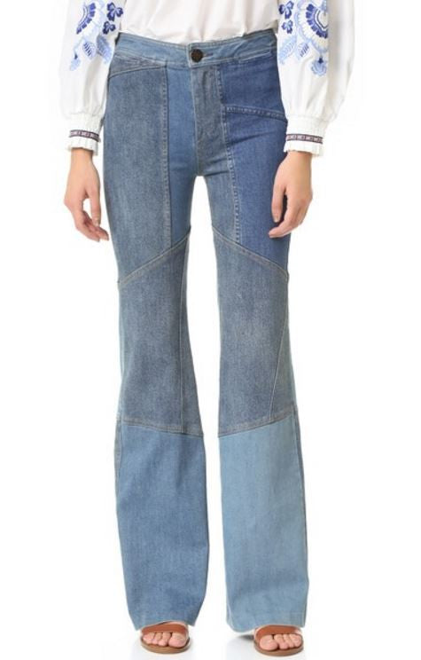 PATCHWORK FLARE JEAN