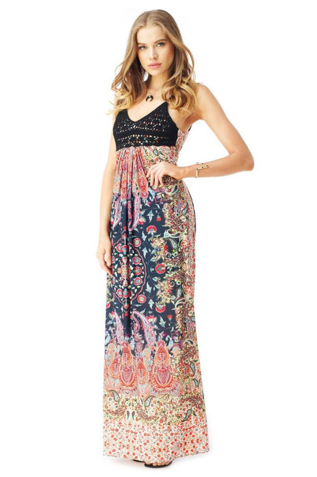 PENTON PRINTED MAXI DRESS