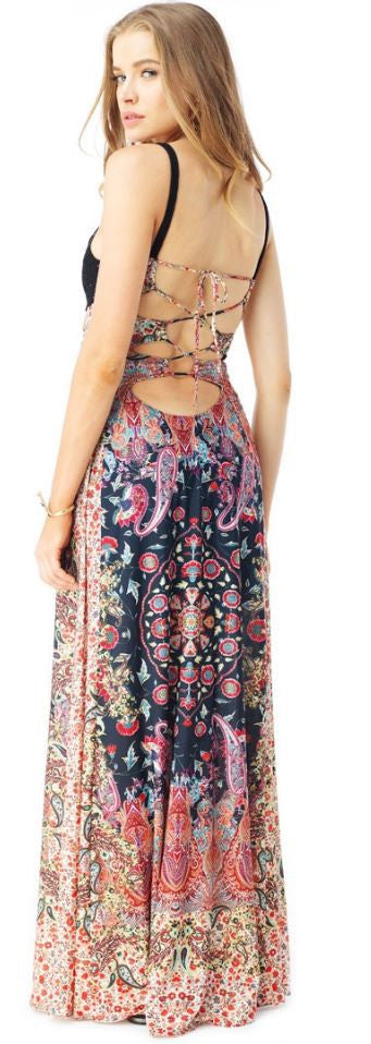 SKY - PENTON PRINTED MAXI DRESS - FETISH