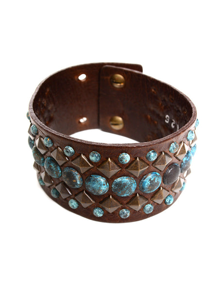 PATINA BRASS NAIL HEAD CUFF