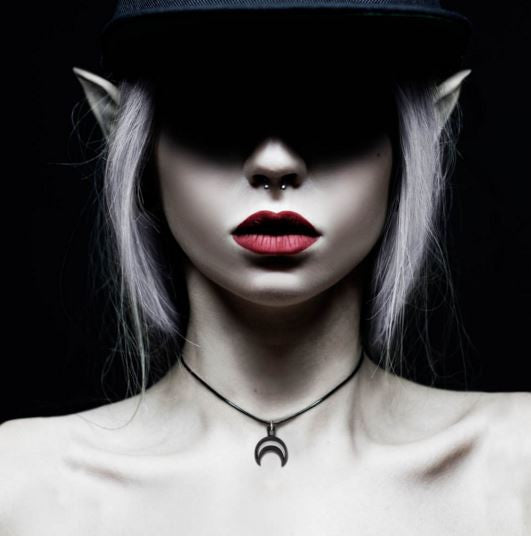 THE ROGUE + THE WOLF - RHEA CHOKER IN BLACK - FETISH