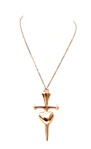 GASOLINE GLAMOUR - ROSE GOLD HEART DAGGER - FETISH