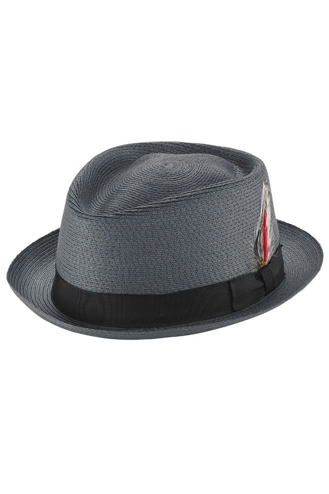 SEWN BRAID STRAW FEDORA