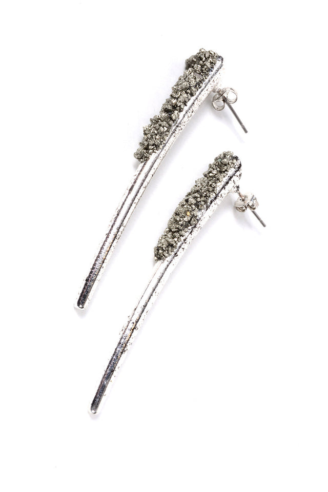 MARLY MORETTI - SILVER HORN EARRINGS (2 COLORS AVAILABLE) - FETISH