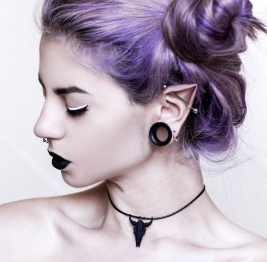 THE ROGUE + THE WOLF - SMALL BISON CHOKER IN BLACK - FETISH