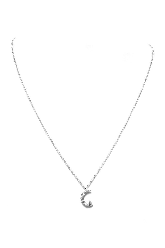 FETISH - STAR & MOON CRYSTAL PENDANT NECKLACE - FETISH