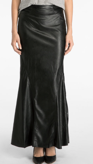 BLANK NYC - VEGAN LEATHER MAXI SKIRT - FETISH