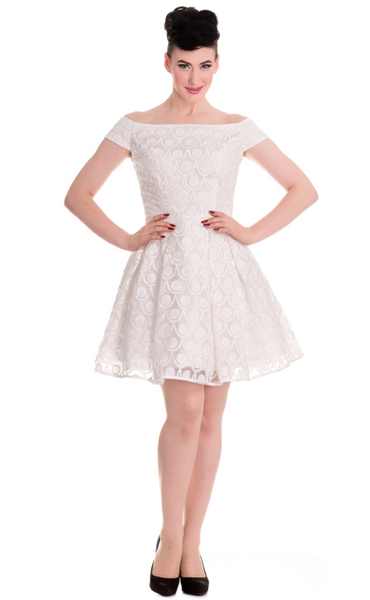 Hell Bunny - PARIS DRESS IN IVORY - FETISH