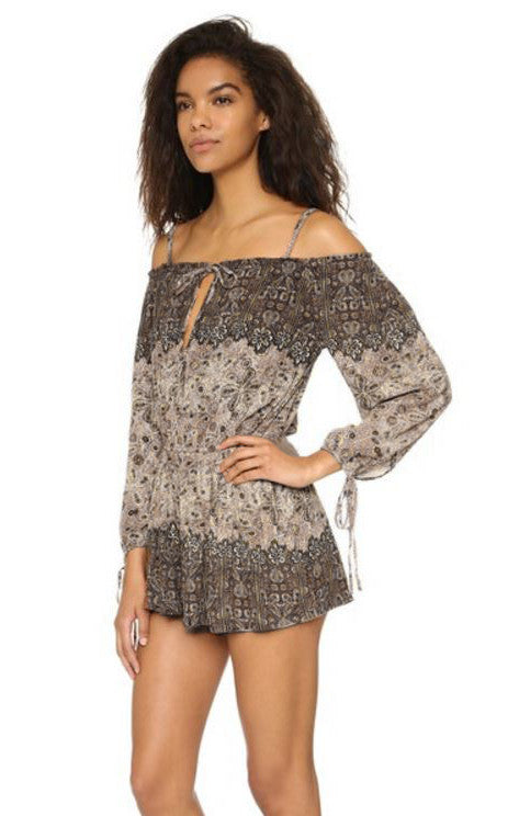 FREE PEOPLE - SO DIVINE ONE-PIECE ROMPER - FETISH