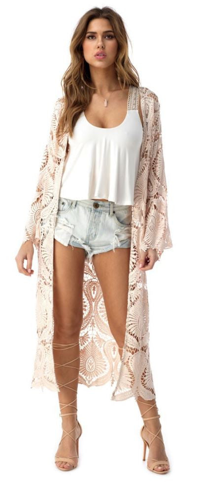 THORNTON LACE DUSTER IN BLUSH
