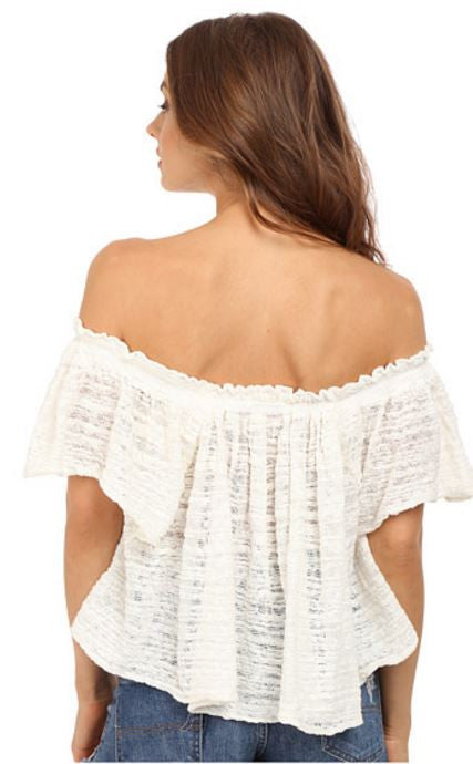 THRILLS & FRILLS SWEATER IN IVORY