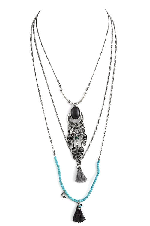 FETISH - TRIBAL CHARM TIERED NECKLACE - FETISH