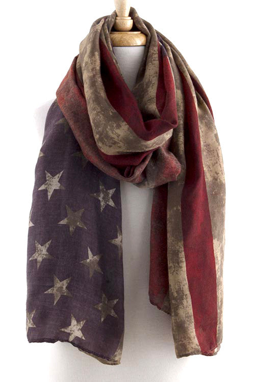 FETISH - VINTAGE PATRIOTIC FLAG SCARF - FETISH