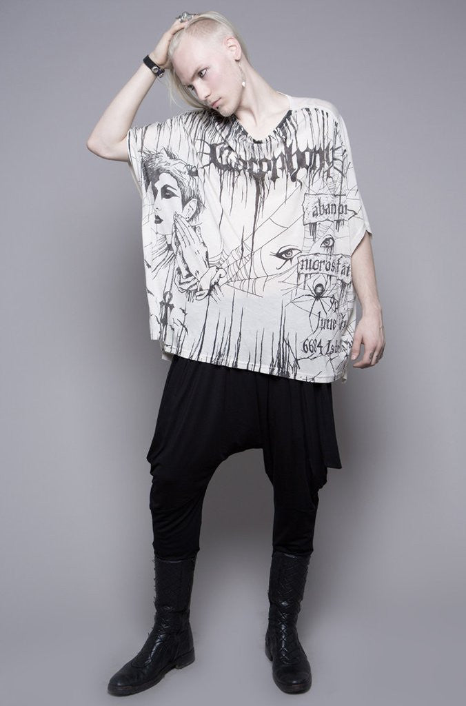 TEA STAIN ASSIMILATE UNISEX OVERSIZED PRINTED TOP