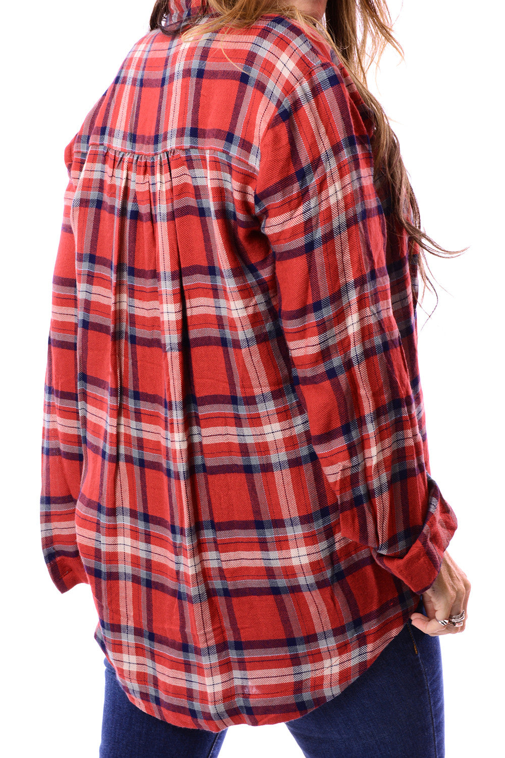 PLAID TWIST FRONT TOP