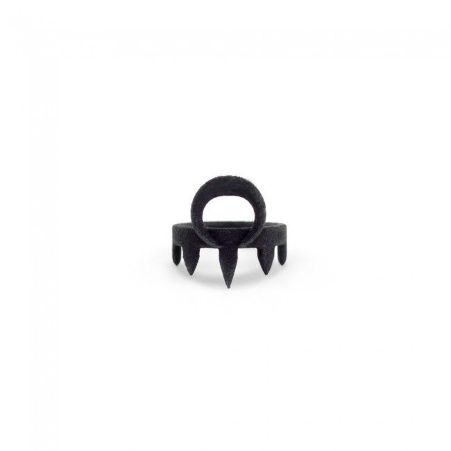 WORSHIPPER MIDI RING IN BLACK