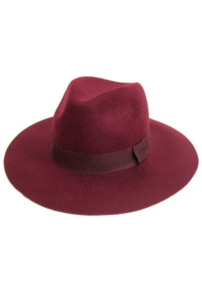 WOOL FELT WIDE BRIM FEDORA (AVAILABLE IN 2 COLORS)