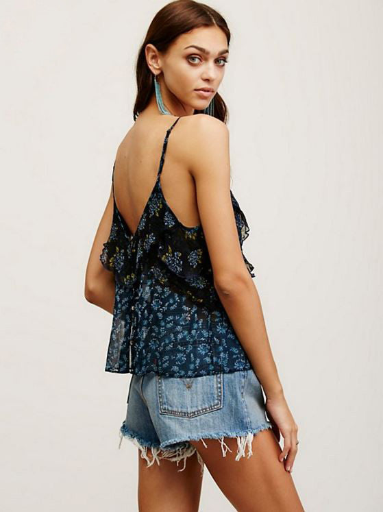 FREE PEOPLE - ALL THINGS TANK IN BLACK - FETISH