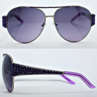 FETISH - AVIATOR SUNGLASSES WITH RHINESTONES - FETISH
