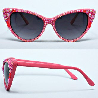 FETISH - RETRO CATEYE SUNGLASSES WITH RHINESTONE - FETISH
