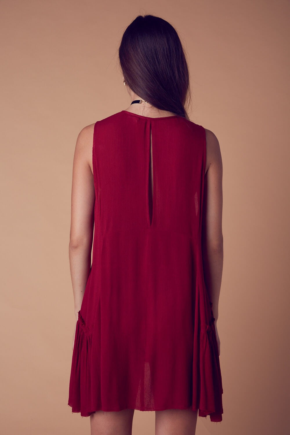 CENTRAL PARK DRESS IN BRICK RED