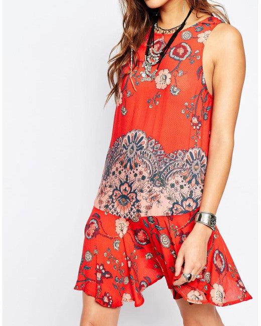 FREE PEOPLE - PRINTED FLOUNCY HEM SLIP (3 COLORS AVAILABLE) - FETISH