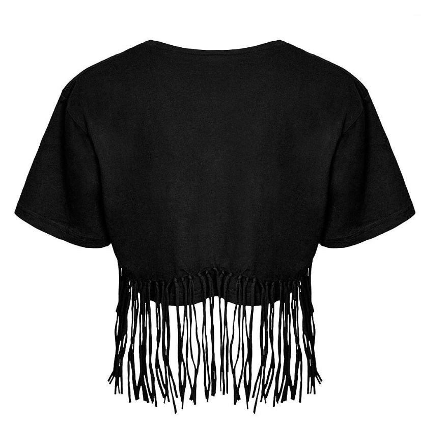 KILLSTAR - MONA FRINGE CROP TOP - FETISH