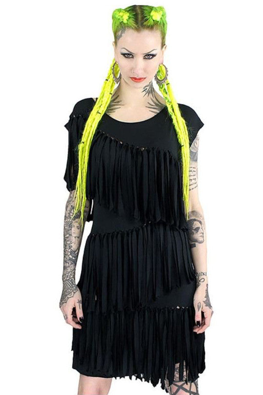 MONA FRINGE TUNIC DRESS
