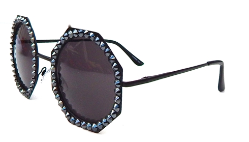 GASOLINE GLAMOUR - RANSOM STAR 80 SUNGLASSES IN BLACK - FETISH