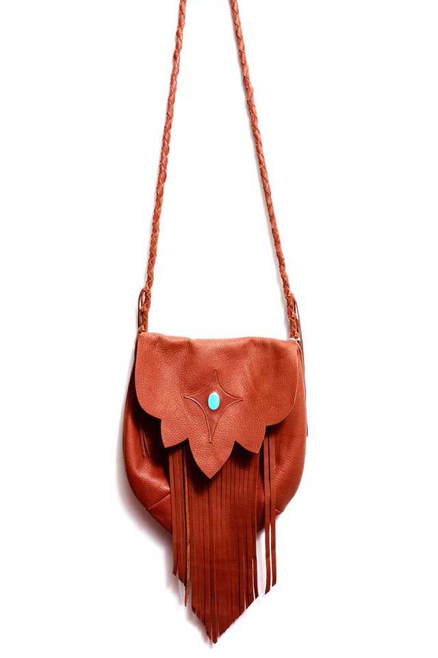 SAHARA FRINGE HOBO BAG IN BROWN