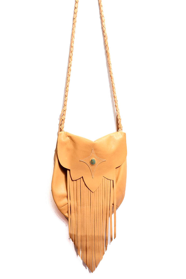 SAHARA FRINGE HOBO BAG IN CAMEL