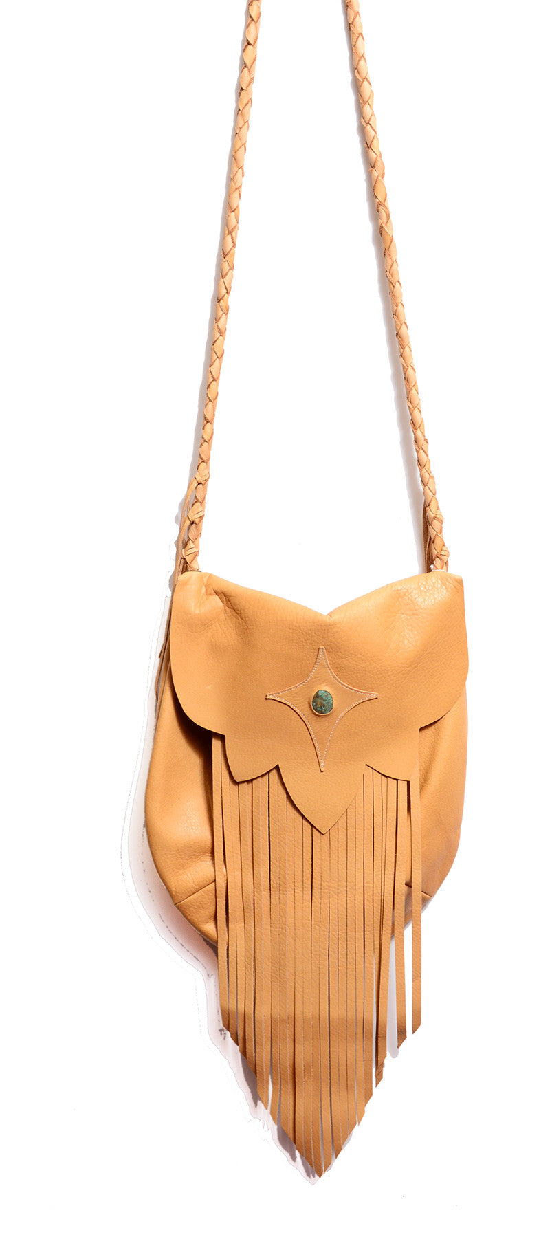 NATIVE RAINBOW - SAHARA FRINGE HOBO BAG IN CAMEL - FETISH