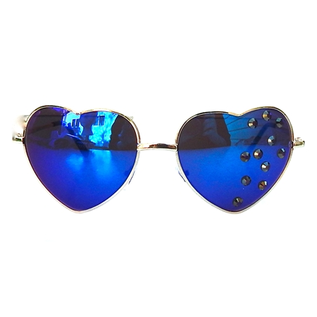 SAPPHIRE HEART SHAPED GLASSES