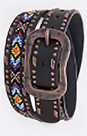 TRIBAL SEED BEAD BELT