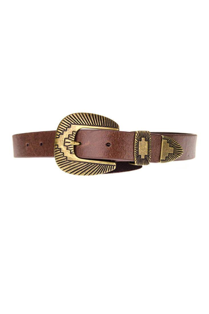 LOVESTRENGTH - WHALEY BELT IN BROWN - FETISH