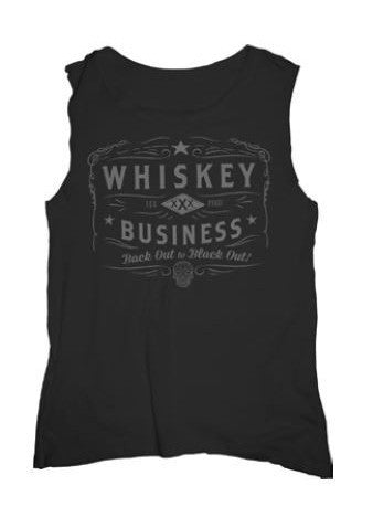 WHISKEY BUSINESS MUSCLE TEE