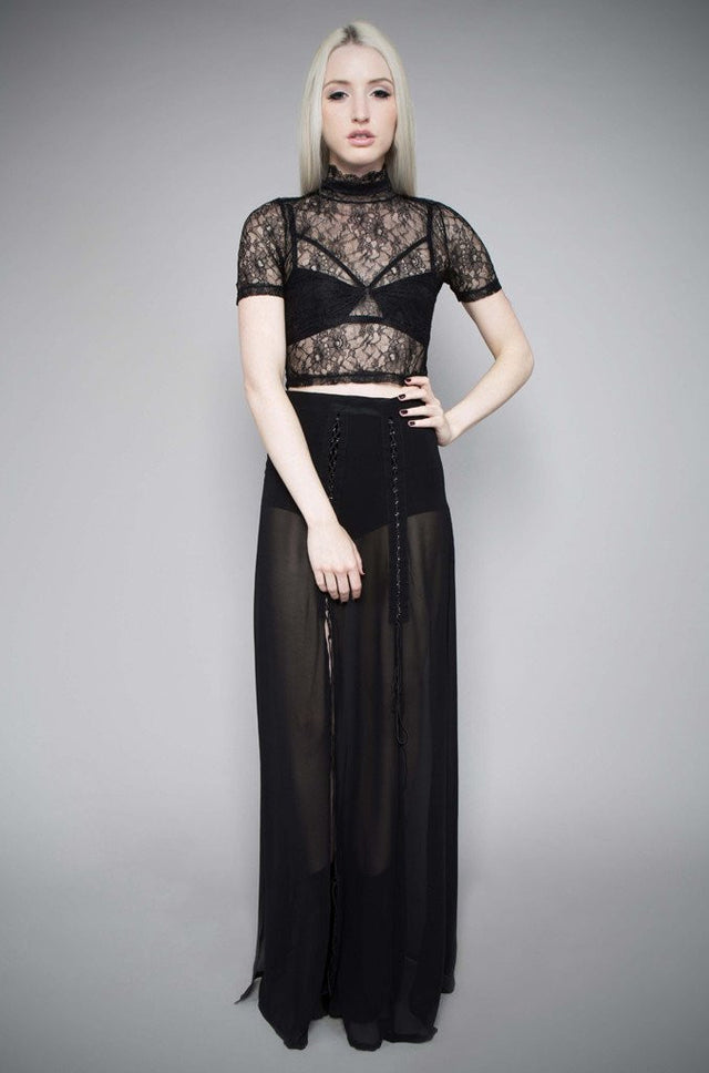 MIDNIGHT HOUR LACE CROP TOP