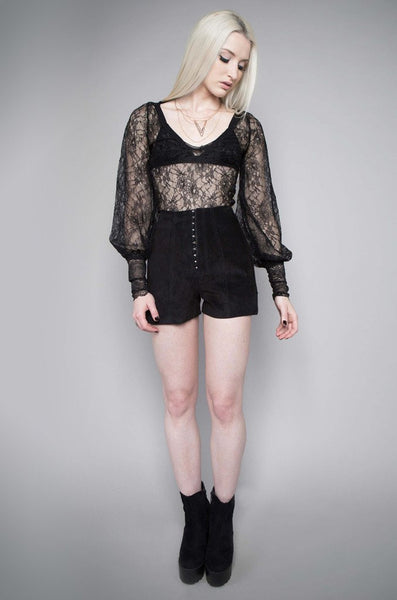 MIDNIGHT HOUR LACE VICTORIAN BLOUSE