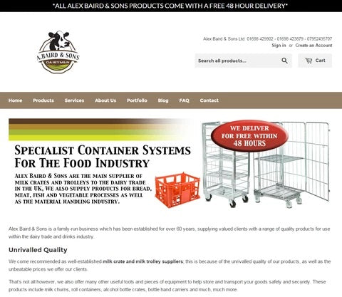 Buying Milk Crates & Trolleys Online